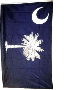 South Carolina Flag Polyester 3 ft. x 5 ft. by State Flag. $4.85. 3' x 5'. Ships from Texas. 3 x 5 ft Polyester flag with 2 brass grommets.  These polyester flags not recommended for prolonged outdoor use. For outdoor use, we recommend our nylon flags.