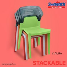 Moulded in virgin polypropylene and the backrest in transparent polycarbonate makes Aura #chairs a perfect solution to match your luxurious living and corporate settings. Get more details at www.swagath.co!