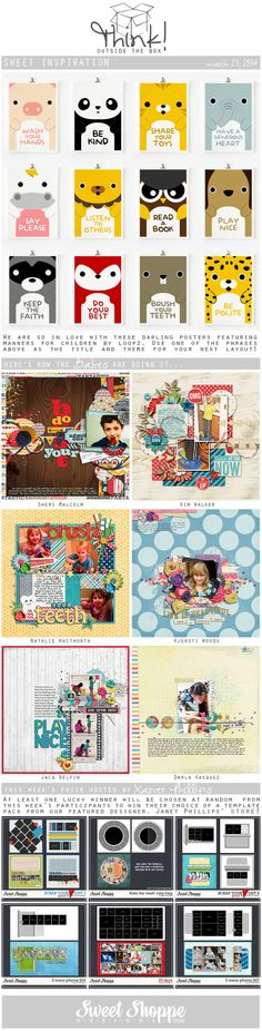 Looking for a fresh new take on a scrap challenge? Check out Sweet Shoppe Designs' Think Outside The Box challenge for March 23rd and scrap along for your chance to win a kit from our Featured Designer's store and to start earning discounts every month!
