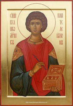 St Panteleimon the Healer and Great Martyr / Именные иконы Orthodox Icons, Christian Art, Portrait Art, Healer, Saints, Catholic, Photos, Pictures, Religion