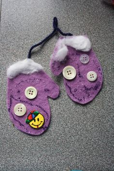 I love doing this with finger paint and actually get the imprint of the kids hands and cut it out like a mitten & decorate...they are small for such a short time!