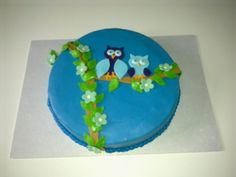 Cake made for BF's baby shower - owl theme