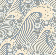 Brayden Studio Stier x Waves of Chic Scenic Wallpaper Roll Scenic Wallpaper, Waves Wallpaper, Wallpaper Roll, Peel And Stick Wallpaper, Sticky Wallpaper, Nautical Wallpaper, Wallpaper Murals, Pattern Wallpaper, Seaside Wallpaper