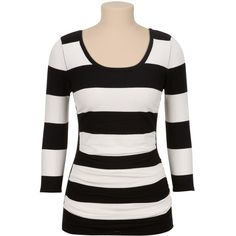45f379921fe5c Ruched side stripe pullover sweater (€32) ❤ liked on Polyvore featuring tops