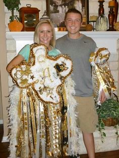 Homecoming Mums Texas Style! Oh the memories. Lol