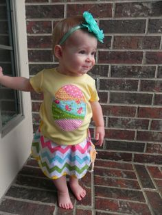 Vintage Easter Egg Shirt with Matching by TheStripedSwallow,