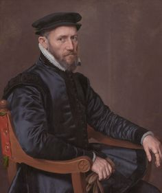 Datecirca 1560 (1555-1565) Sir Thomas Gresham (1519-1579) Artist: Anthonis Mor Alternative title(s): Portrait of Sir Thomas Gresham (1519 - 1579) Merchant and financial agent of the English crown in the Netherlands, founder of the Royal Exchange and of Gresham college, London.[2] Pendant of a portrait of his wife Anne Fernely  Current location: Rijksmuseum, Amsterdam