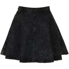TOPSHOP MOTO Black Acid Denim Skirt ($30) ❤ liked on Polyvore featuring skirts, mini skirts, bottoms, saias, faldas, black, denim skirt, denim mini skirt, acid wash denim skirt and topshop skirts