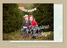 Check out Holiday Card Template by SweetLittleMuse on Creative Market