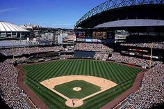 Safeco Field in Seattle, Washington. Mariners Baseball.