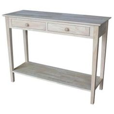 International Concepts, Spencer 48 in. W Wood Server Console Table with 2-Drawers in Unfinished, SV-8 at The Home Depot - Mobile