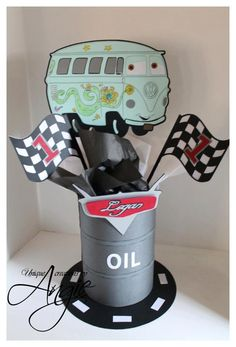 Disney cars centerpieces by Angieuniquecreations on Etsy