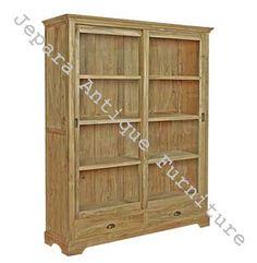 lemari rak buku minimalis slide mebel jepara furniture