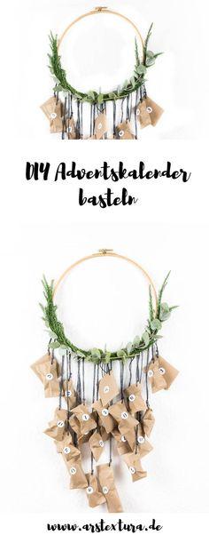 Adventskalender basteln | mit Eukalyptus und Holz im Skandinavischen Stil - einfach und schön
