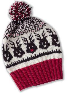 Ewe So Sporty Head to the Sleigh Hat Knitting Pattern PDF