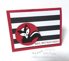 Stinky Skunk Card ::