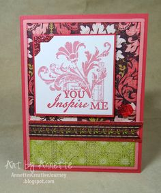 Ivy Lane papers - Inspiration Flourishes stamp - Annette's Creative Journey: CTMH Spring/Summer Idea Book Samples