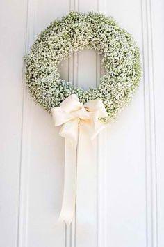 Babys breath wreath, pure elegant.