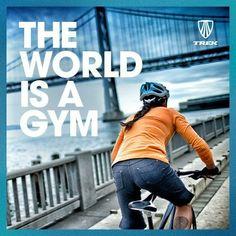 The world is a gym. Get out and ride. Citações De Bicicleta 720f0affe4314