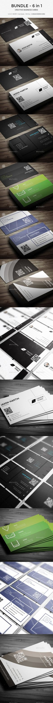 Bundle - 6 in 1 - Corporate Business Cards Templates PSD
