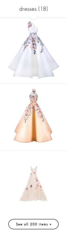 """""""dresses [18]"""" by caramara3 ❤ liked on Polyvore featuring dresses, gowns, mark bumgarner, white, floor length gowns, white silk dress, silk gown, white silk gown, white evening dresses and long dresses"""