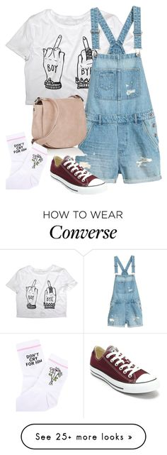"""Untitled #1868"" by cassidy-krystine on Polyvore featuring Deux Lux, Yeah Bunny and Converse"
