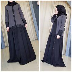 No photo description available. Hijab Musulman, Hijab Dress, Niqab Fashion, Muslim Fashion, Hijabi Gowns, Modele Hijab, Hijab Style, Abaya Designs, Muslim Dress