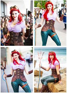 Steampunk Ariel love it! - COSPLAY IS BAEEE!!! Tap the pin now to grab yourself some BAE Cosplay leggings and shirts! From super hero fitness leggings, super hero fitness shirts, and so much more that wil make you say YASSS!!!