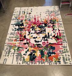 Stepevi Rose Pixel Rug