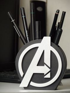 Avengers Logo Avengers Gift Desk Organizer GiftAvengers Holder Avengers Pen Organizer Gift Wood Gift for boy Super Hero Pencil holder - Desk Wood - Ideas of Desk Wood - Avengers Logo Avengers Gift Desk Organizer GiftAvengers Marvel Room, Cnc Projects, 3d Prints, Wood Gifts, Wood Toys, Pen Holders, Desk Organization, Gifts For Boys, Painting On Wood