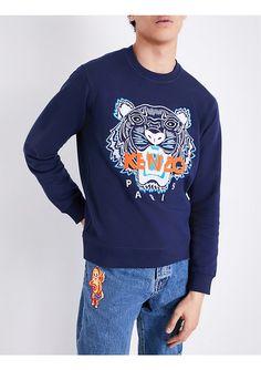 KENZO - Tiger-embroidered cotton-jersey sweatshirt | Selfridges.com