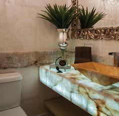 Pedra Ônix Iluminada na Decoração Luxo! Veja Dicas e Ideias!
