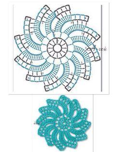 Crochet Leaf Patterns, Crochet Doily Diagram, Crochet Leaves, Crochet Snowflakes, Crochet Chart, Crochet Motif, Crochet Flowers, Crochet Dollies, Irish Crochet