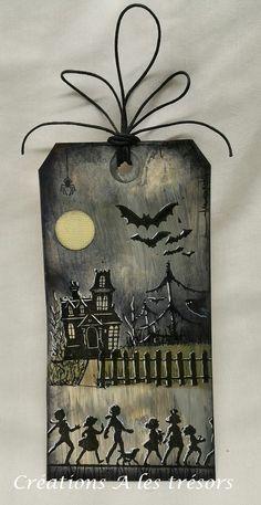 Créations A les trésors: Étiquette d'Halloween -1