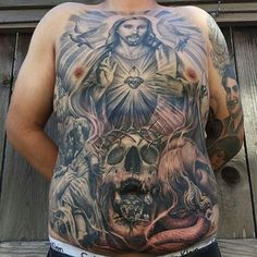 Discover depictions of struggle and sacrifice with the top 40 best Jesus chest tattoo designs for men. Explore cool religious ink ideas and body art. Torso Tattoos, Cool Arm Tattoos, Stomach Tattoos, Best Sleeve Tattoos, Boy Tattoos, Life Tattoos, Tattoos For Guys, Tattoos For Women, Tatoos