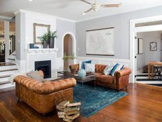 See more images from 9 things we learned from Joanna Gaines on  domino.com #chesterfieldsofas  LOVE the color!!!