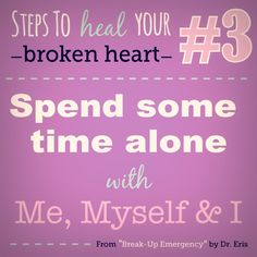 "Steps to heal your broken heart, from my book ""Break-Up Emergency"" #love #relationships #boyfriend #girlfriend #heartache #heartbreak #breakup #tips #advice #quotes #empower #lashrinks #bravo #book"