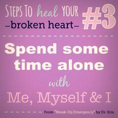 "Steps to heal your broken heart, from my book ""Break-Up Emergency"" #love #relationships #boyfriend #girlfriend #heartache #heartbreak #breakup #tips #advice #quotes #empower #lashrinks #bravo #book"