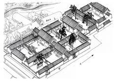 郑希成绘【魏忠贤宅伴冰窟】 西城区北海东门园景胡同4-14号 这组院落据说是魏忠贤的宅子,从挑檐看风格一致,清水脊的做法也差不多。10号院里边的简易楼原本是花屋子,藏花的窖。 此宅之前与陟山门街5号御史衙门相连,西墙外就是古冰窖,与北海、景山的景色连为一片。
