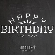 Chalk Overlay Happy Birthday Chalk Clipart by dodidoodles on Etsy