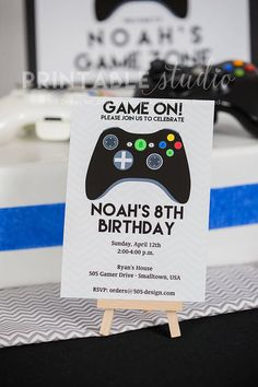 Video Game Birthday Party Decorations With Matching Invitation Huge Full Printable Collection INSTANT DOWNLOAD
