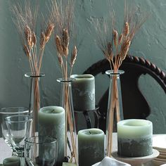 simple wheat centerpieces