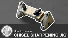 I use my chisel not often because they are not really sharp. To change that I made myself a Chisel Sharpening Jig. With this Jig I can grind the primary beve. Chisel Sharpening Jig, Sharpening Tools, Easy, Buenas Ideas, Youtube, Wood Working, Workshop, Tools, Woodwind Instrument