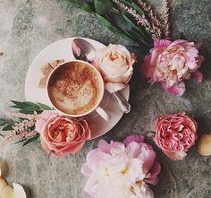 ♡ coffee tea flowers ♡ .. X ღɱɧღ   