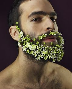 Beard of flowers. Bloom Magazine.