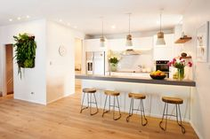 IT'S A STUNNER: The kitchen by Jo and Damo is possibly the best room ever done on The Block NZ, and it was the winner this week. The Block Kitchen, The Block Nz, New Kitchen, Kitchen Dining, Dining Room, Kitchen Layout, Home Decor Kitchen, Rustic Kitchen, Kitchen Interior