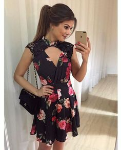 Love that neckline Stylish Dresses, Cute Dresses, Beautiful Dresses, Short Dresses, Fashion Dresses, Summer Dresses, Dresses Dresses, Sunday Dress, Moda Chic