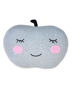Poduszka Knit Pillow Apple grey szara