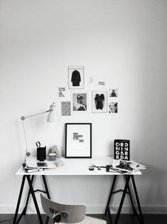 Monochrome workspace ✖️DESKS & STUDIOS// Muse by Maike // Instagram: @musebymaike #MUSEBYMAIKE