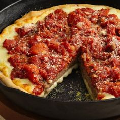 Easy homemade sauce and delicious pizza crust in the cast iron skillet!